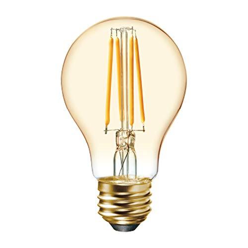 GE LED Vintage Light Bulb, A19 Amber Glass LED Edison Bulb (60 Watt Replacement Dimmable LED Light Bulbs), 560 Lumen, Medium Base Light Bulbs, 2-Pack E26 Edison Bulb