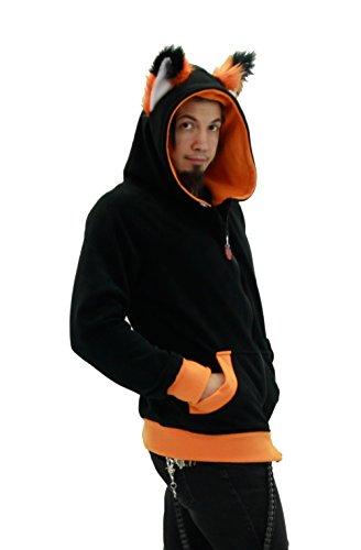 c72ac0f1586b1 Jual Pawstar Color Theme YIP Fox Wolf Eared Hoodie Jacket - Hoodies ...