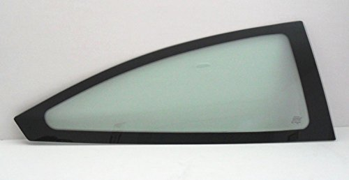2000-2007 Ford Focus 2 Door Hatchback Passenger Side Right Rear Quarter Glass Window With Rubber Seal (Glass Seal Side)
