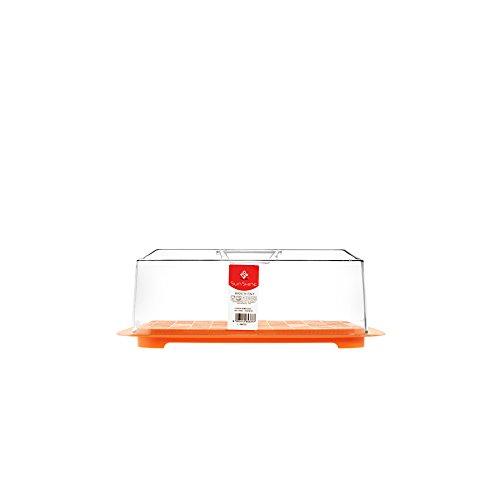 HOME Puerta Queso Rectangular, 29 x 22 cm, plástico, Transparente ...