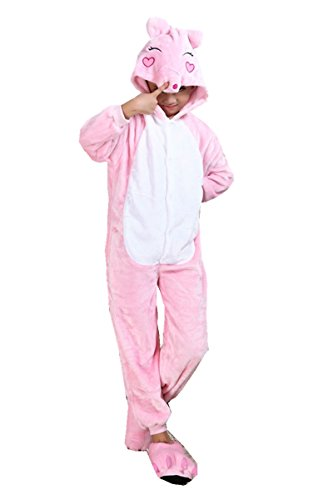 Pig Halloween Costumes (Toddler Funny Group Halloween Costumes Unisex Pig Cosplay 100cm)