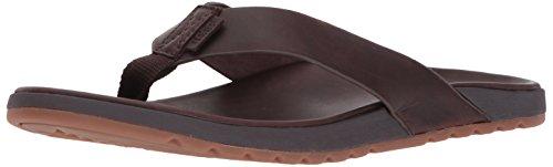 Reef Men's Contoured Voyage Le Flip Flop, Premium Real Leather