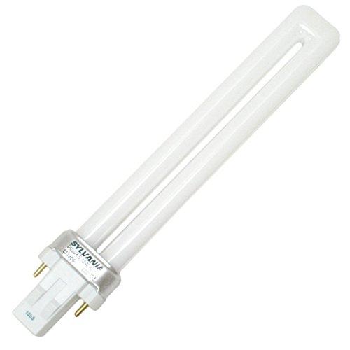 Sylvania 21135 (4-Pack) CF13DS/850/ECO 13-Watt Single Tube Compact Fluorescent Light Bulb, 5000K, 800 Lumens, 82 CRI, T4 Shape, GX23 Bi-Pin Base