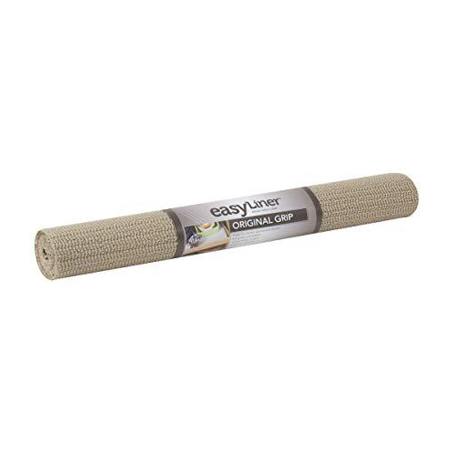 Duck Brand Revestimiento no adhesivo original de agarre fácil para estantes, Marrón topo, 20-Inch x 7-Feet, 1