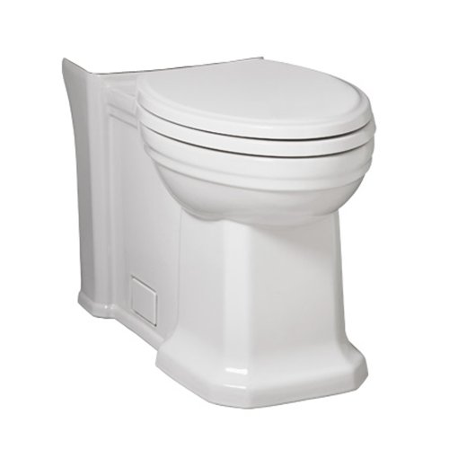 Porcher 40550-00.001 Lutezia Elongated Toilet Bowl Only, (Porcher Toilet Bowl)