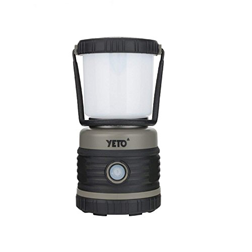 YETO Portable 4-Mode Ultra Bright 1000 Lumen LED Camping Lantern for Backpacking Fishing & Emergency, Lightweight & Compact, 3 x D Cell Alkaline Battery Powered, Black