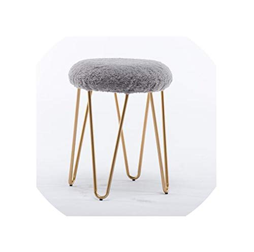 U-Best Popular Dressing Room Stool Living Room Stool,Washable Cover Shoes Changing Stool,Grey1