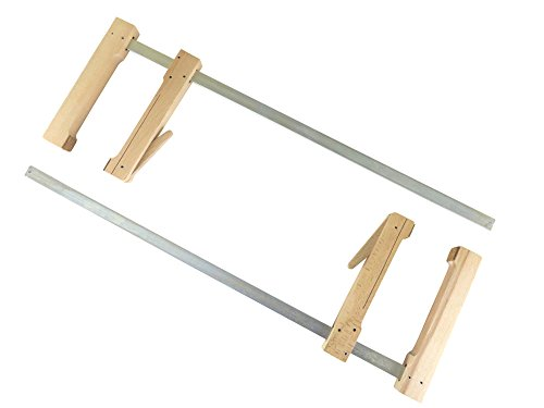 "2 each Pair Taytools 31-600 Wooden Wood Cam Action Clamps Deep Reach 23-1/2"" Opening by 7-1/2"" Depth European Beech by Taytools"