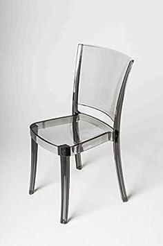 Set 4 sedie Lucienne Sedia Trasparente POLICARBONATO Fum/è 10L20014