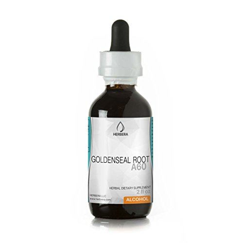 Goldenseal Root A60 Alcohol Herbal Extract Tincture, Super-Concentrated Organic Goldenseal (Hydrastis Canadensis) Dried Root (2 fl oz) Review