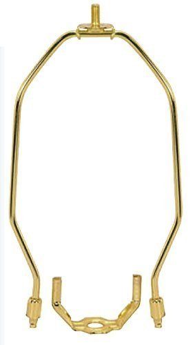 (Satco S70/708 Heavy Duty Harp Fitter For Lamp Shades, Polished Brass)