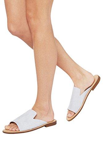 next Mujer Mules Diseño Abierto Cuero Corte Regular Zapatillas Calzado Azul