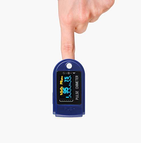 JHTC Pulsoximeter & Oximeter mit Pulsmesser & Pulsuhr & Sauerstoffsättigung Messgerät Finger Geeignet für stilvolle Fitness Männer und Frauen, Senioren und Abenteurer