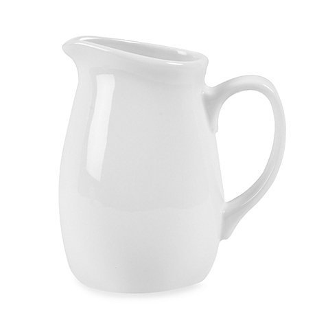 White Porcelain Creamer, 15 Oz. by Everyday White