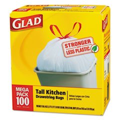 012587783740 - (100 per Carton) 13 Gallon Drawstring Tall Kitchen Bags in White carousel main 0