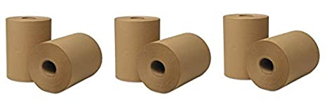 Case of 12 Rolls Natural Hardwound Roll Towels 425 ft x 8 in