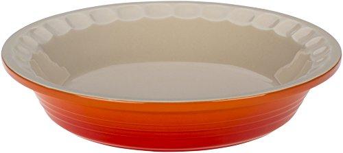Le Creuset Stoneware Pie Pans, 9-Inch, Flame