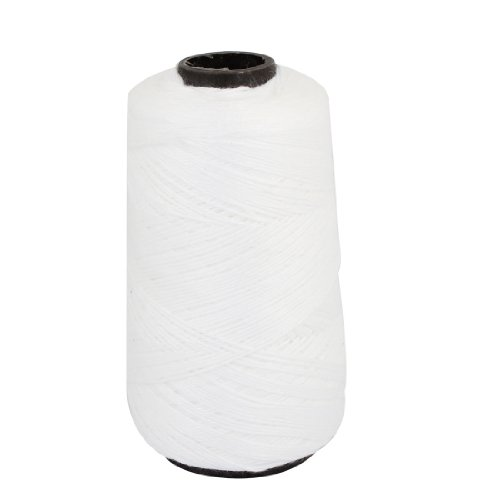 Uxcell Clew Tower Shape Tying Binding Cotton Cord String, 0.5mm Dia, White (Bindings Ltd)