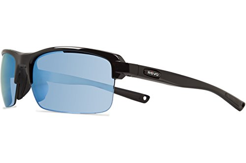 Revo Mens Crux N RE4066-02 Polarized Iridium Sport Sunglasses,Polished Black,55 - Frames Rim Half Oakley