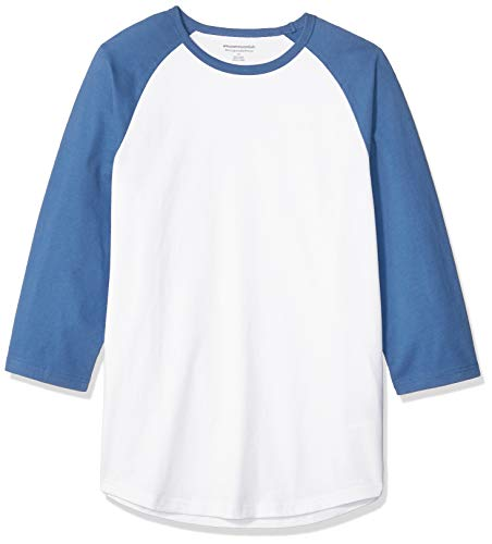 Amazon Essentials Men's Slim-fit 3/4 Sleeve Baseball T-Shirt