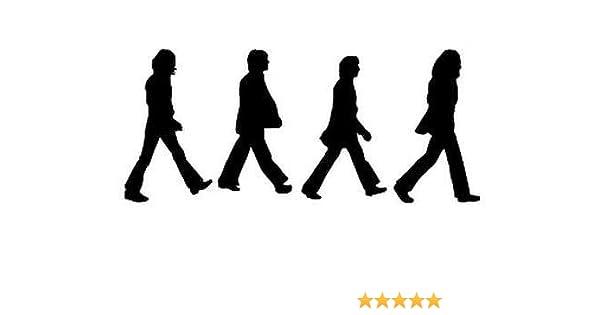 "Beatles Crossing 8/"" WHITE Vinyl Sticker Decal Car Truck Laptop music buy 2+Free"