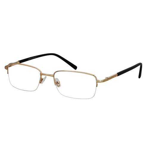 EyeBuyExpress Rectangle Gold Reading Glasses Magnification Strength - Prescription Made Glasses Custom