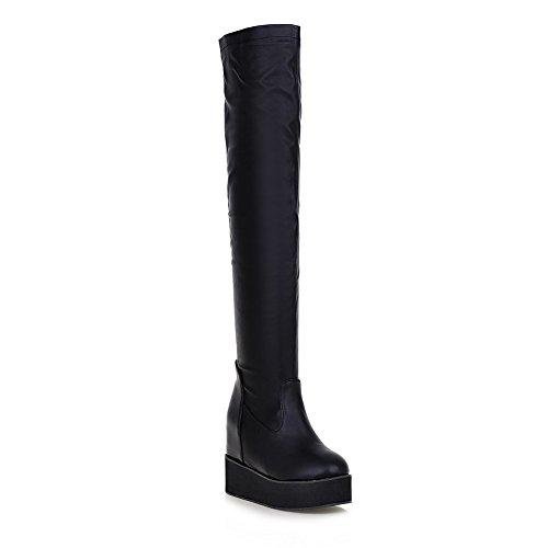 Fashion Resistant Womens Slip Urethane Platform AdeeSu Boots SXC02182 Black Wedges BcgqEq
