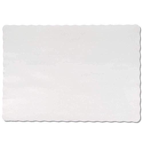Color Bulk Paper Placemats for Parties and Christmas Table Decorations, Scalloped Edges Table Mats 10