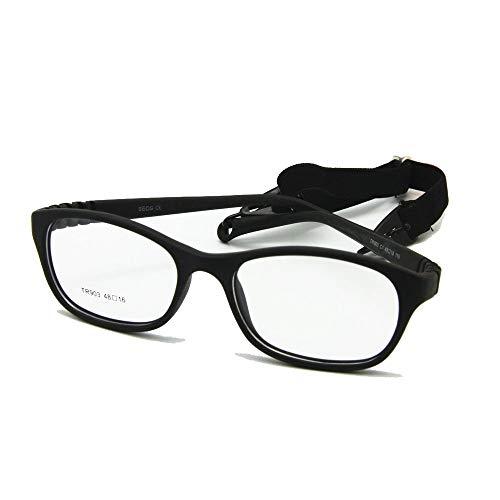 - EnzoDate Children Optical Glasses Frame Size48 One-piece Kids Glasses No Screw Flexible Girls Boys Glasses(black)
