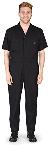 NATURAL WORKWEAR - Mens Short Sleeve Coverall, Black -
