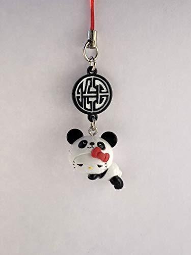 - Sanrio Hello Kitty Panda Mascot Figure Charm Strap - Sleepy Panda Suit