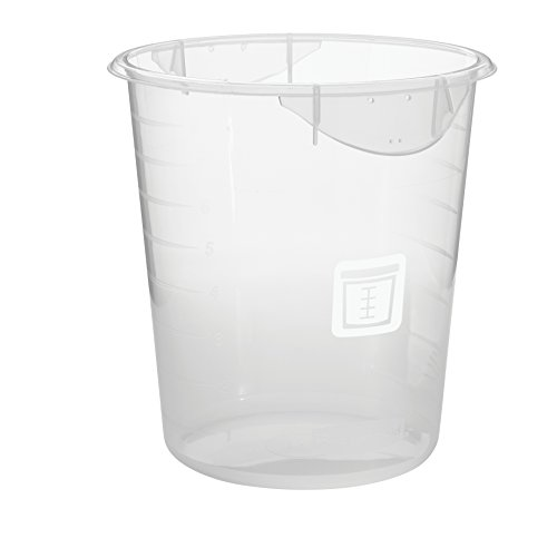 Round White Food (Rubbermaid Commercial Products 1980400 Round Plastic Food Storage Container, White Label, 8 quart, Clear)