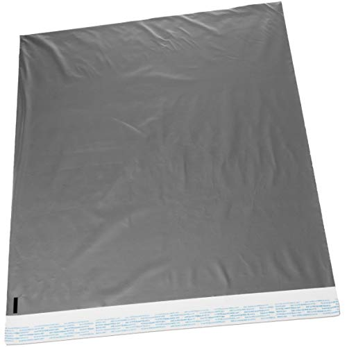 (22x28 Jumbo Self-Seal Poly Mailer Bags 2.5 Mil Silver (10 Pack))