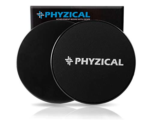 PHYZICAL Core Sliders are Dual Sided Exercise Sliders. Workout on Any Surface. Full Body or Ab Workouts. Compact for Easy Travel. Physical Therapy, Cross Fit Sliders for Fitness