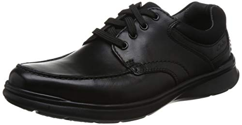 Smooth Black Derby Clarks Edge Cotrell Stringate Scarpe Uomo q4T0wO