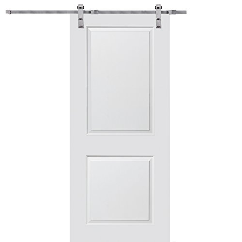 National Door Company Z020198 Solid Core Molded 2-Panel, Primed, 32'' x 84'', Barn Door Unit, 84'', 32'', Mdf by National Door Company
