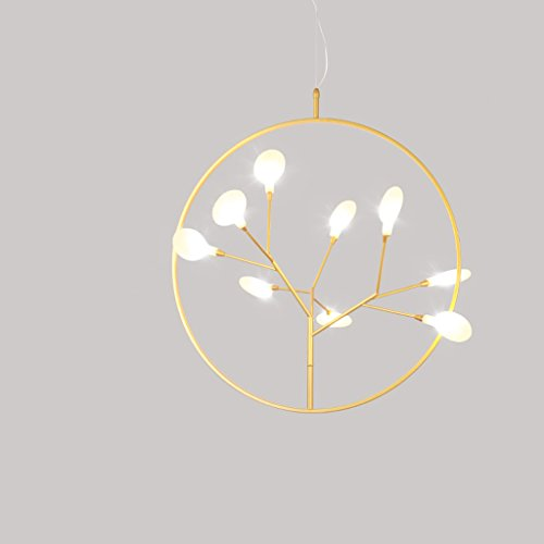 Cherry Hall Pendant - Xiaokeai Modern Pendant Lamp Nordic Style Cherry Tree Shape Chandelier, Wrought Iron Body, PVC Shade, Living Room Bedroom Balcony Restaurant Hallway Chandelier, Bar Club Cafe Chandelier Ceiling li