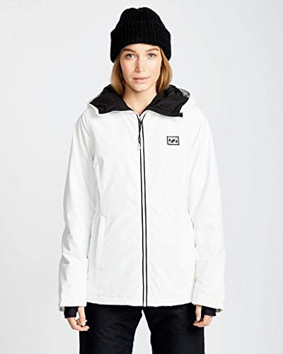 Billabong Women's Sula Solid Outerwear Jacket Snow Large