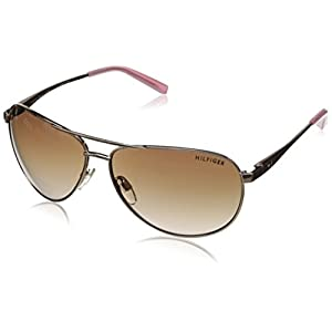 Tommy Hilfiger Women's THS LAD179 Aviator Sunglasses, Rose Gold & Milky Pink, 61 mm