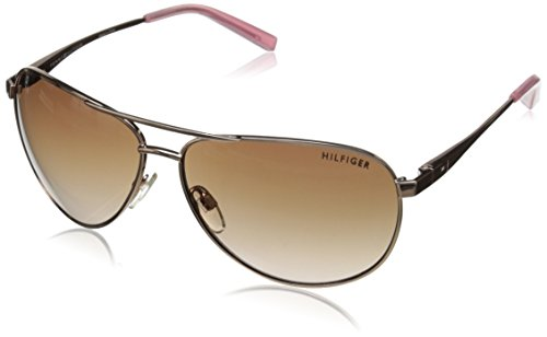 Tommy Hilfiger Women's THS LAD179 Aviator Sunglasses, Rose Gold & Milky Pink, 61 - Tommy Ladies Hilfiger Sunglasses