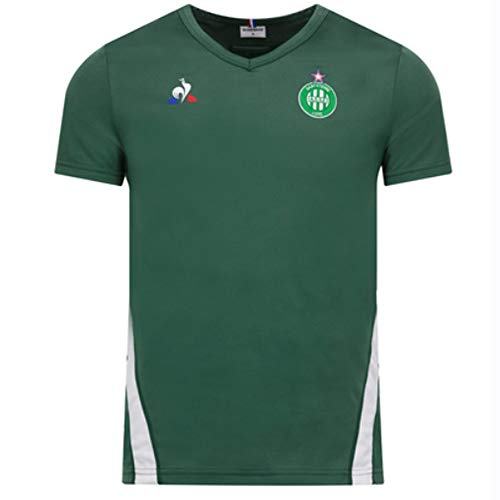 Le Coq Sportif 2018-2019 St Etienne Training Football Soccer T-Shirt Jersey (Green)