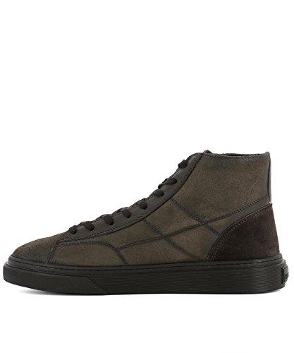 Hogan Hi Top Sneakers Uomo HXM3400J560HTQ297M Sneakers Hogan Hi Uomo Marrone Top Pelle q1rtE1wU