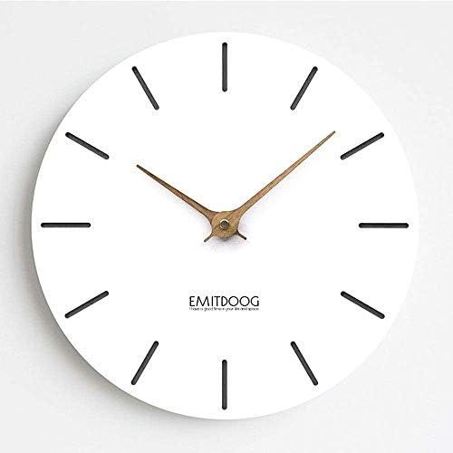壁掛け 時計 壁掛け時計 15 ''大型シンプルモダンホームインテリアクロックサイレント非カチカチクォーツウォールクロックフレームなしリビングルーム、キッチン、寝室用ガラスカバー 掛け時計 (Color, B, Size, 15''),D,15''
