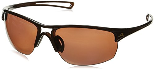 adidas Raylor 2 L Polarized Oval Sunglasses, Shiny Brown, 65 mm