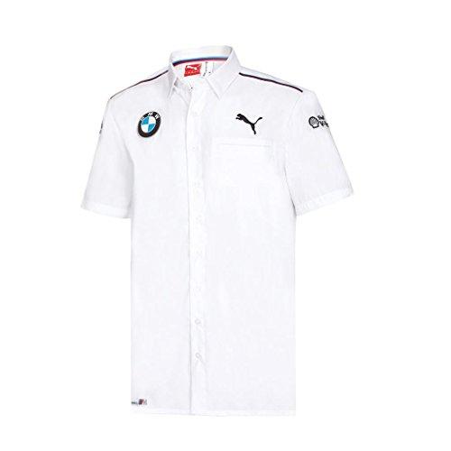 Branded BMW Motorsports White Team Button Up Shirt w/Sponsors Logo's (Medium)