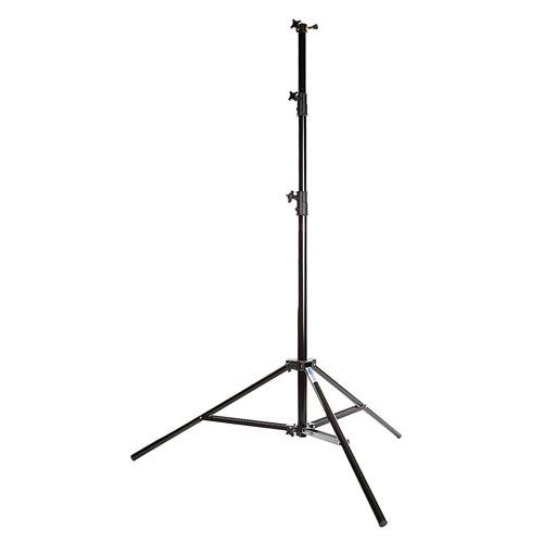 Savage 13' Four-Section Heavy Duty Air-Cushioned Light Stand, 4 Section with 3 Risers, Black ()