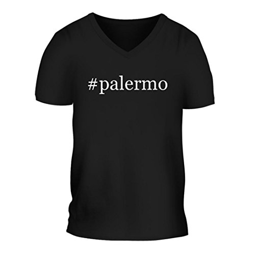 fan products of #palermo - A Nice Hashtag Men's Short Sleeve V-Neck T-Shirt Shirt, Black, Large