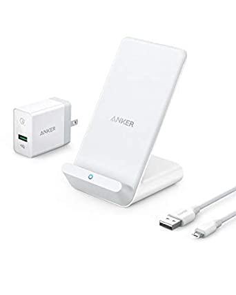 Anker Wireless Charger, PowerWave 7.5 Stand with Internal Cooling Fan, 7.5W for iPhone 11, 11 Pro, 11 Pro Max, Xs Max, XR, XS, X, 8, 8 Plus, 10W for ...