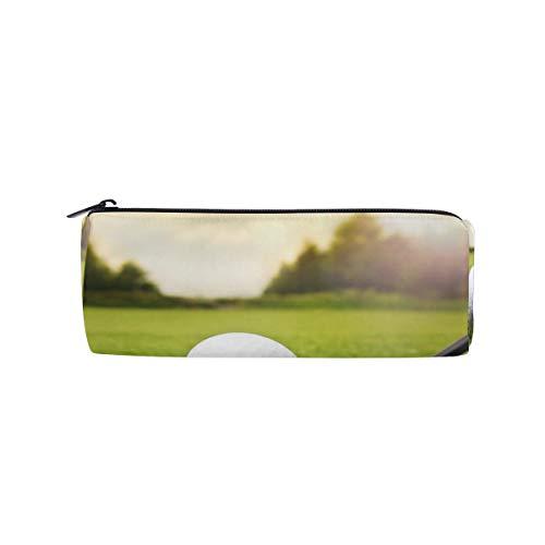 Golf Bag Shape Pen - Pencil Case Cylinder Shape Holders Golf Pen Stationery Pouch Bag with Zipper