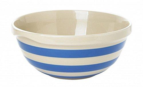 Cornishware Blue and White Stripe Stoneware Mixing Bowl 25cm by - Mixing Stoneware Bowl